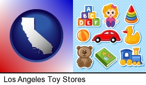 Los Angeles, California - a variety of toys